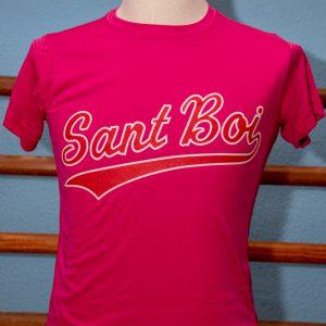 Camiseta Rosa de poliéster