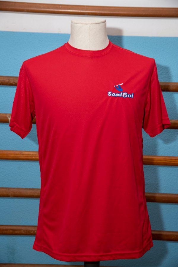 Camiseta roja de poliéster